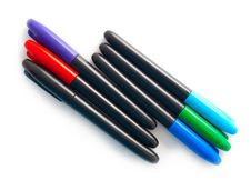 Free Set Of Multi-coloured Pens Royalty Free Stock Photography - 14758167