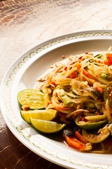 Free Papaya Salad Stock Photos - 14758203