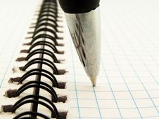 Free Ball-point Pen On Notebook Stock Photo - 14758210