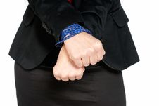 Free Businesswoman Hands Tied, Job Slave, Isolated Royalty Free Stock Photography - 14758757