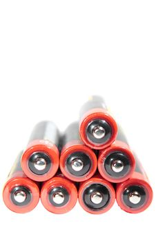 Free Black And Red Batteries On Top Of Each Other Royalty Free Stock Images - 14759179
