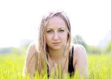 Free Woman In Summer Park Royalty Free Stock Photos - 14759678
