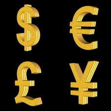 Icon Currency 3d Royalty Free Stock Photo