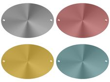 Free Metal Plates Set (01) Stock Photos - 14759873