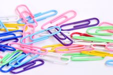 Colorful Paper Clips Stock Photography