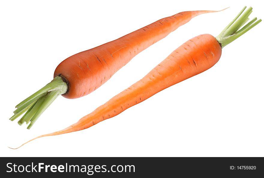Ripe fresh carrots
