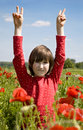 Free Little Girl In The Corn Poppy Royalty Free Stock Photos - 14767568