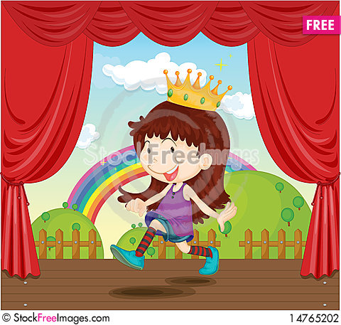Free A Girl With Crown Stock Photography - 14765202