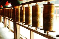 Free Prayer Wheels In Tibet Royalty Free Stock Photography - 14760307