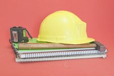 Free Yellow Helmet And Tools Stock Photography - 14760402