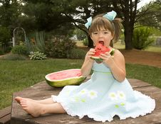 Free Eating Watermelon Stock Photography - 14760592