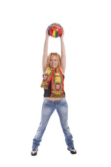 Free Portugal Soccer Fan Royalty Free Stock Photo - 14760665