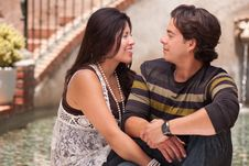 Free Attractive Hispanic Couple Portrait Outdoors Stock Photography - 14760782