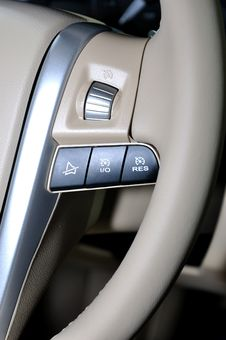 Free Push Button On Steering Wheel Stock Photo - 14760940