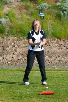Free Female Golfer Stock Image - 14761081
