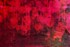 Heart On Grange Background Stock Image