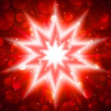 Free Red Star Flash Stock Images - 14761444