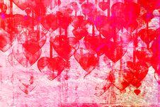 Heart On Grange Background Stock Photo