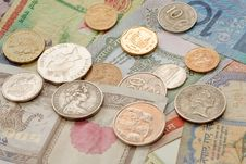 Free Internation Coins And  Notes Stock Photos - 14762003