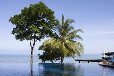 Swimming Pool In Thailand Hotel Stock Image