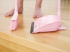 Cleaning The Floor Royalty Free Stock Photography
