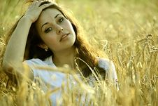 Free Girl In A Field Stock Images - 14762964