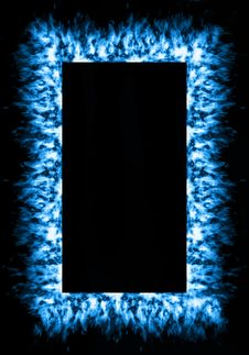 Free Blue Fire Frame Royalty Free Stock Photos - 14763388
