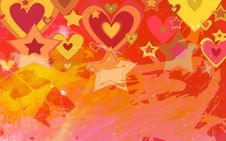 Free Hearts And Stars Stock Photo - 14763450