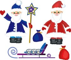 Free Two Santa Clauses Royalty Free Stock Photography - 14763487