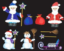 Free Chriistmas,New Year  Icons Stock Image - 14763581