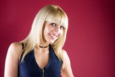 Free Portrait Of A Pretty, Smiling Blonde Stock Photos - 14764093