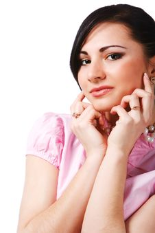 Free Beauty Young Girl In Pink Blouse Royalty Free Stock Images - 14765009