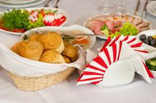 Free Rolls In A Basket. Royalty Free Stock Photography - 14765417