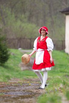 Free Red Riding Hood In The Wood Stock Photos - 14765503