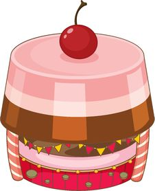 A Jelly Cake Royalty Free Stock Images