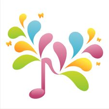 Free Colorful Musical Note Background Royalty Free Stock Photography - 14765647