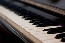 Free Keys Of An Old Piano Stock Photos - 14766583