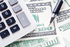 Free USD And Calculator Royalty Free Stock Image - 14766586