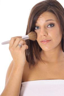 Model Applying Makeup Royalty Free Stock Photos
