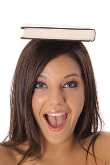 Free Happy School Girl With Book Stock Photos - 14766953