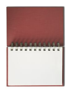 Free Red Notebook Horizontal Single Blank Page Royalty Free Stock Photo - 14767665