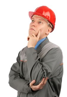 Free Engineer With Red Hat Stock Photo - 14769130