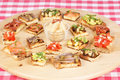 Free Various Italian Bruschetta Over Cutting Board Stock Image - 14772091