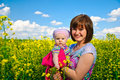 Free Spring Field Family Stock Photos - 14779633