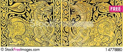 Free Thai Style Painting Stock Photo - 14778880