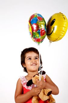 Free Toddler Playing With Balloons Stock Photos - 14770283