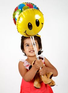 Free Toddler Playing With Balloons Royalty Free Stock Images - 14770299