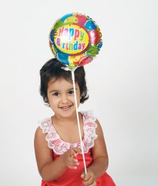 Free Toddler Playing With Balloons Royalty Free Stock Photos - 14770318