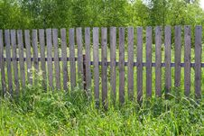 Fence In The Village Royalty Free Stock Photos
