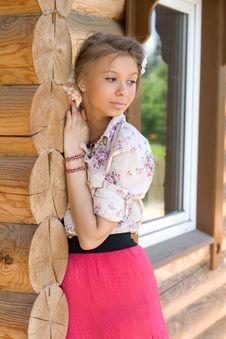 Free Girl On A Veranda Stock Image - 14770801
